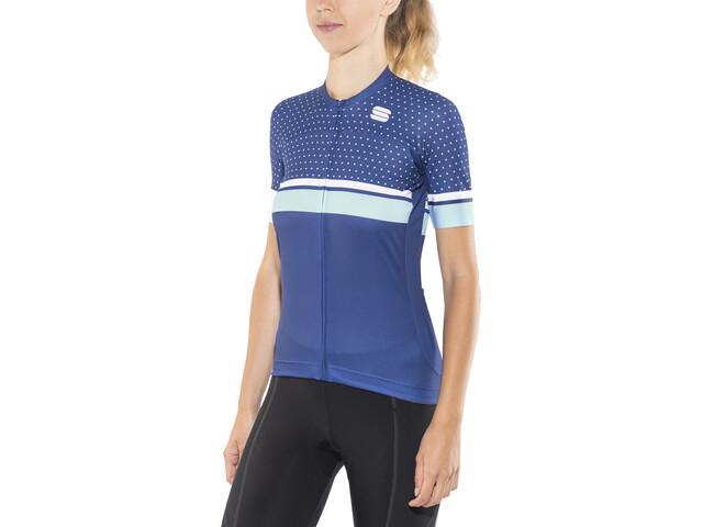 Sportful Diva Kortærmet cykeltrøje Damer, blue twilight/white/cerulean